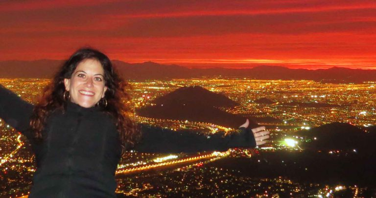 Gloria made it to the top of Santiago Chile
