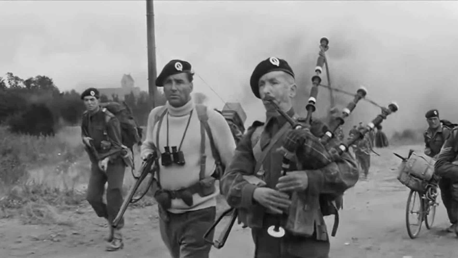 Colonel Jack Churchill with his famous bagpipe