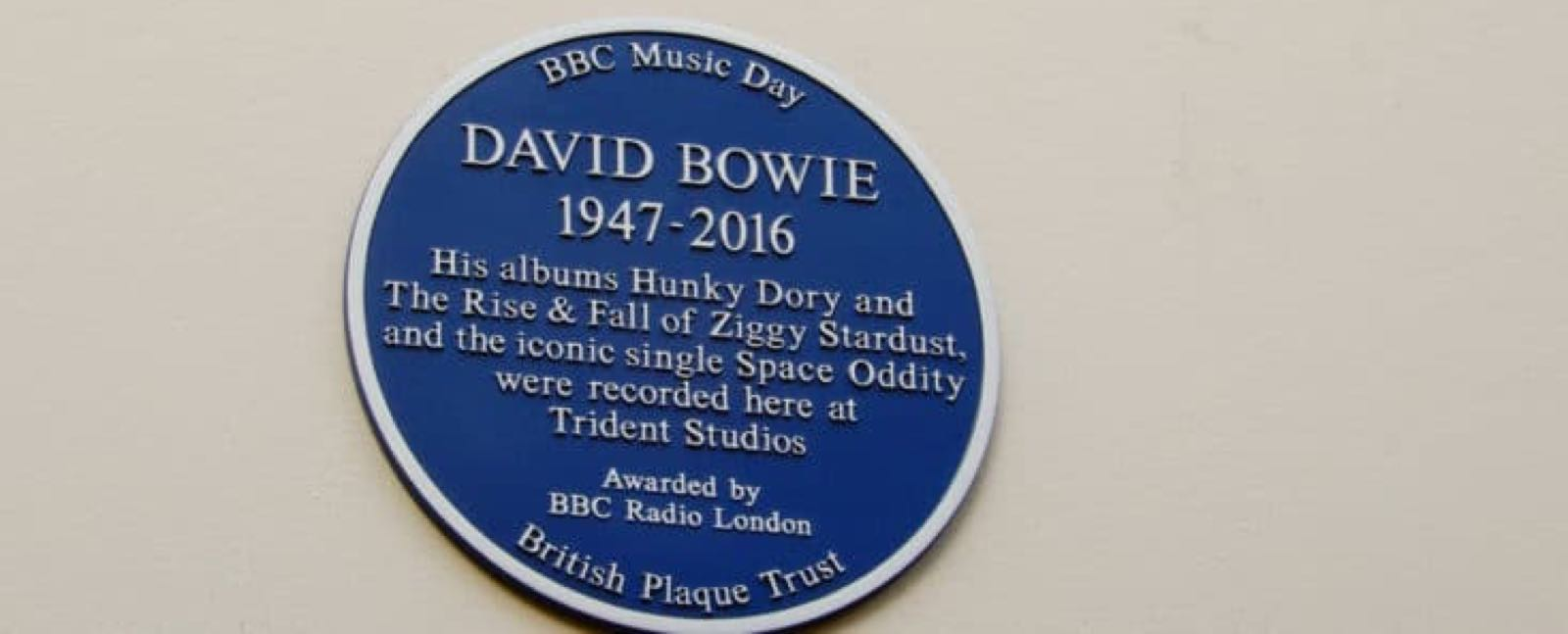 David Bowie recorded here at Trident Studios in London