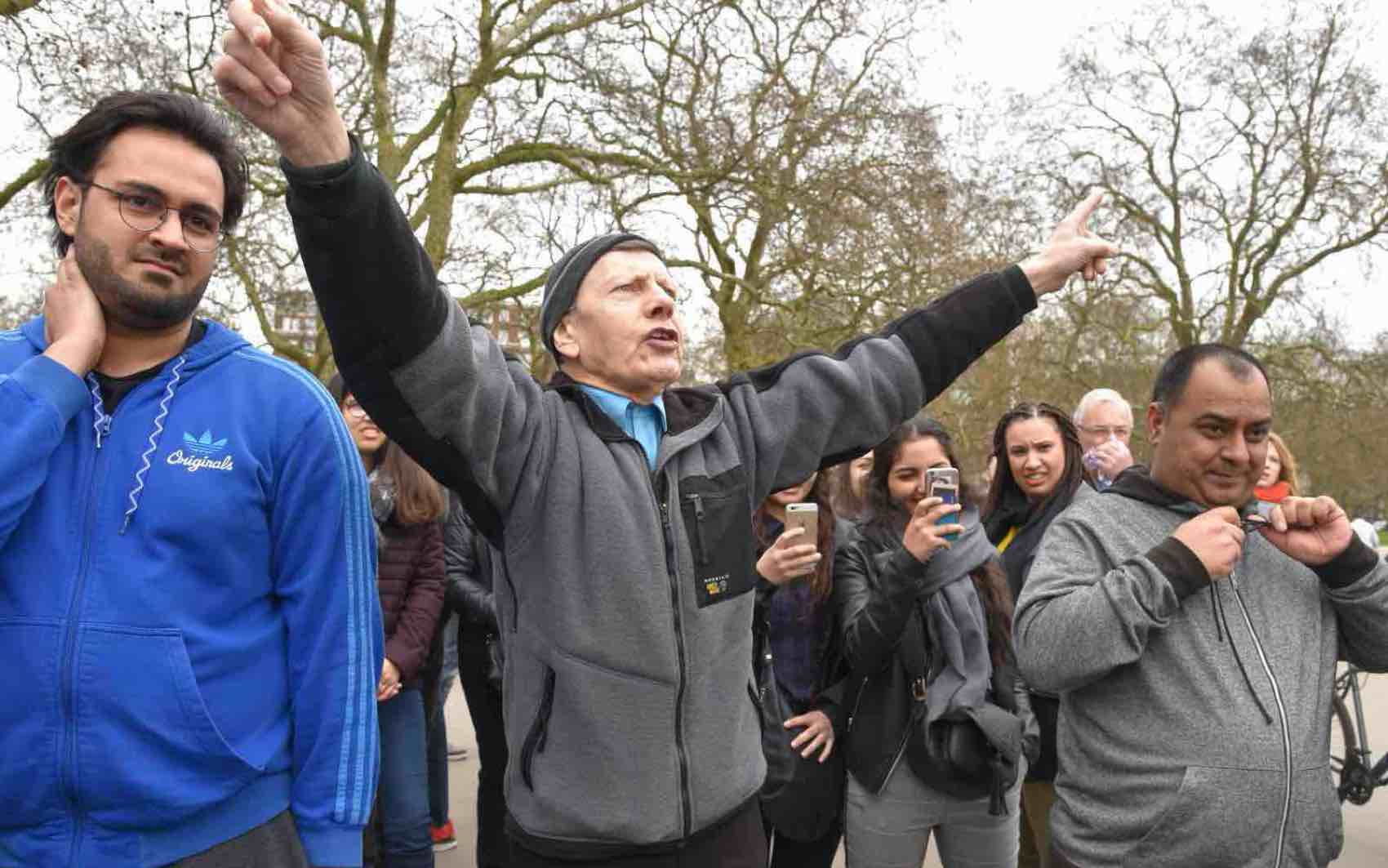 Speaker`s Corner in Hyde Park for speeches, discussions and debates