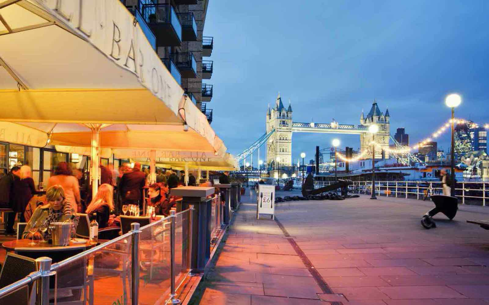 The Tower Bridge promenade
