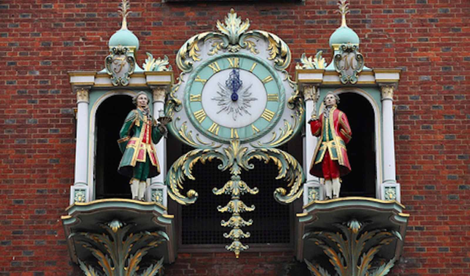 HISTORIC TIME: The clock weights three tonnes, and each of the men is 4ft high.