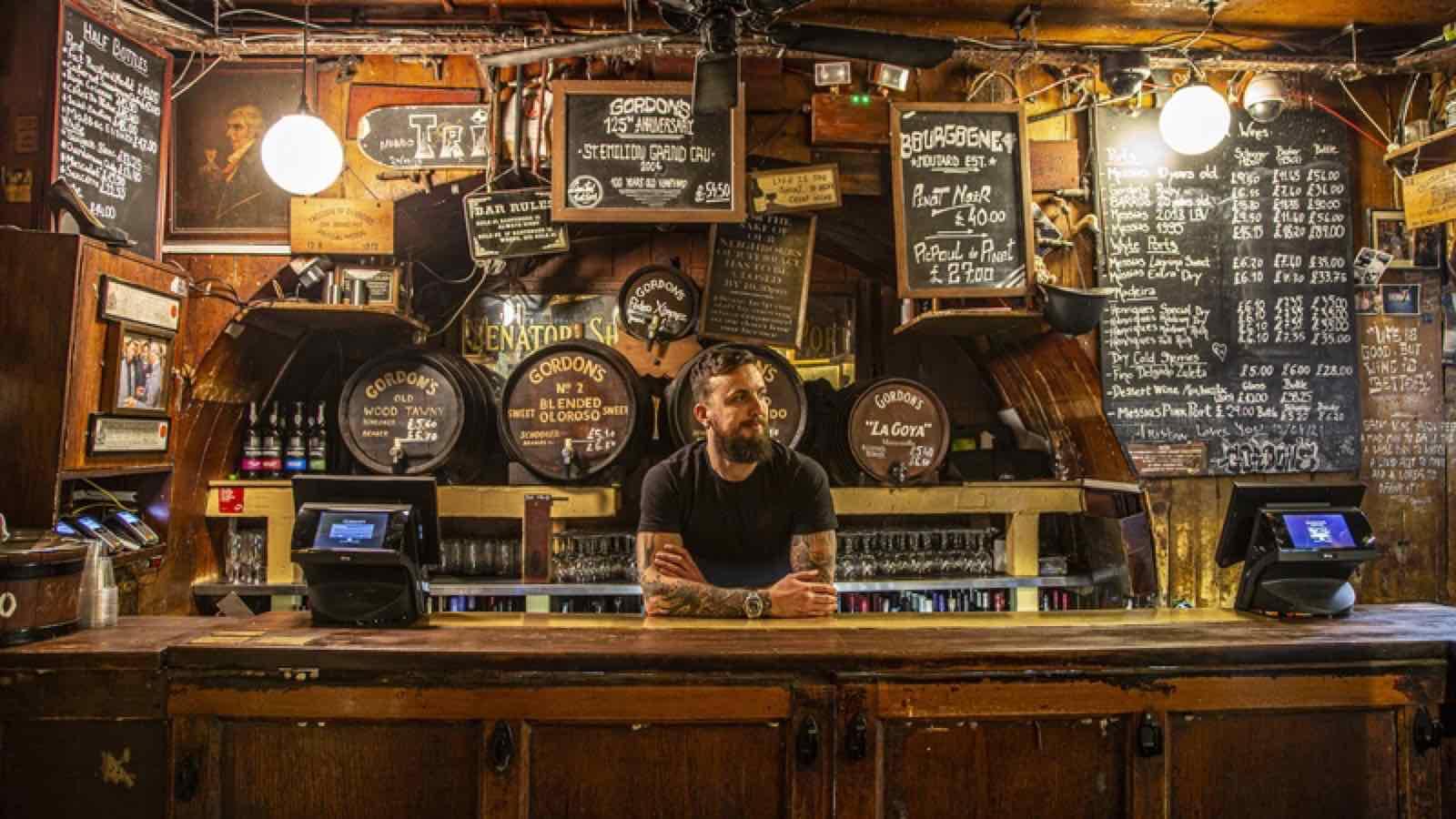 Gordons recognised as London's oldest wine bar, established in 1890