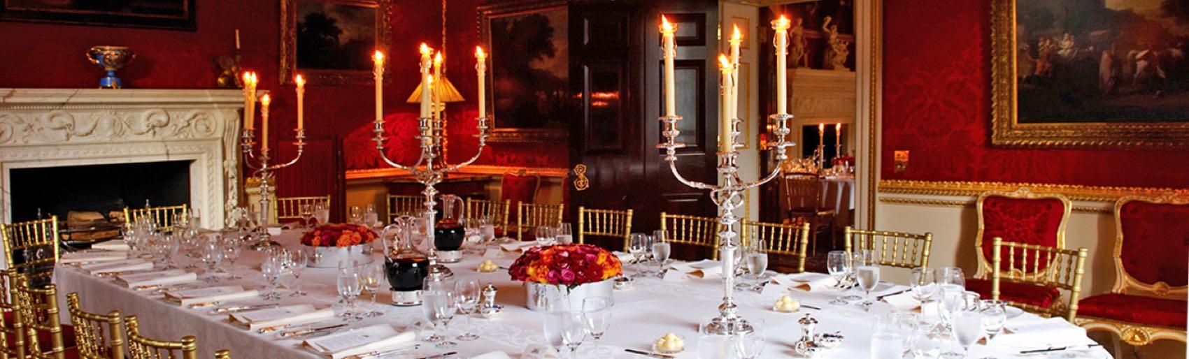 Dinner at Spencer House in Central London
