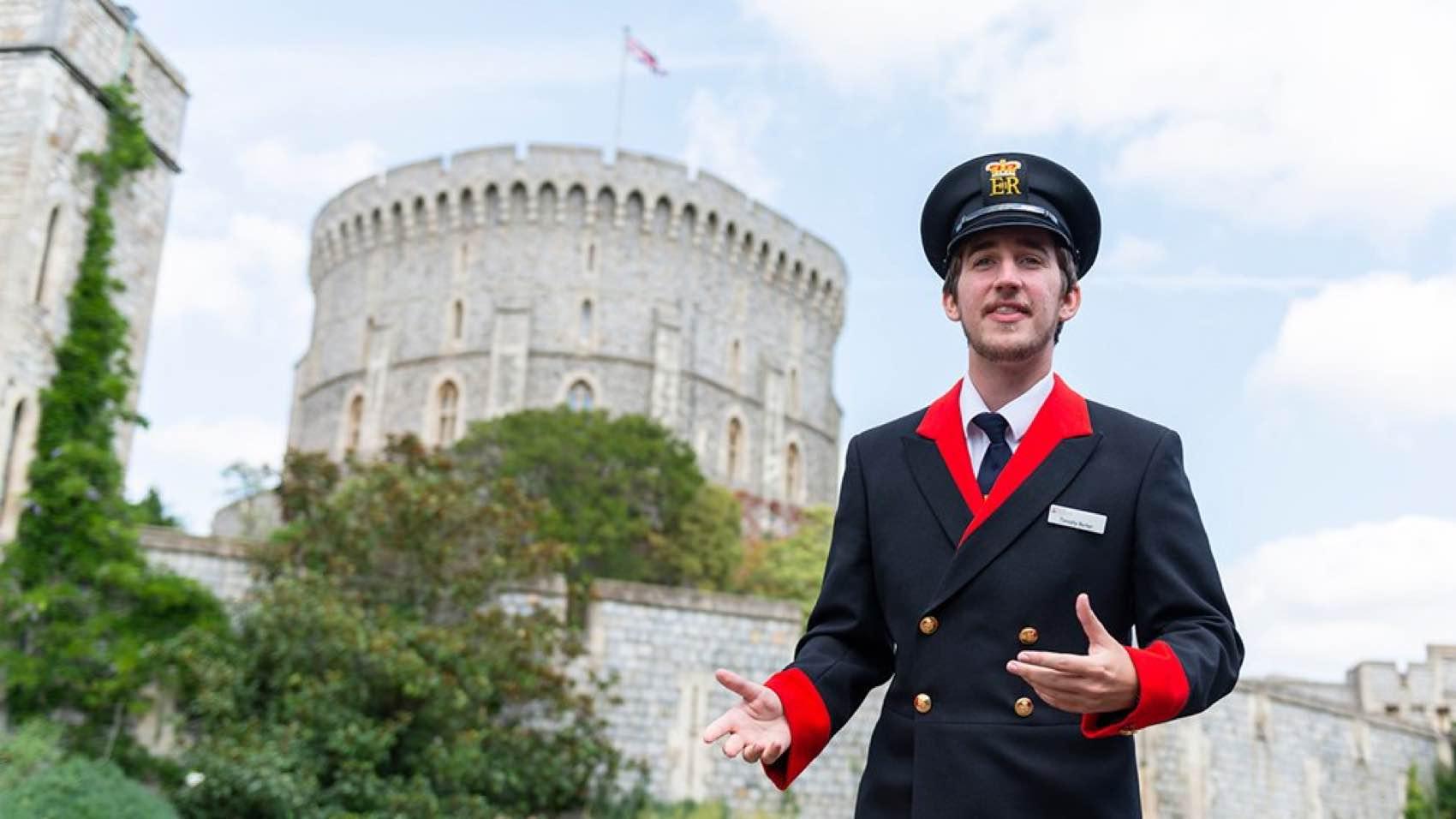 A Guide at Windsor Castle