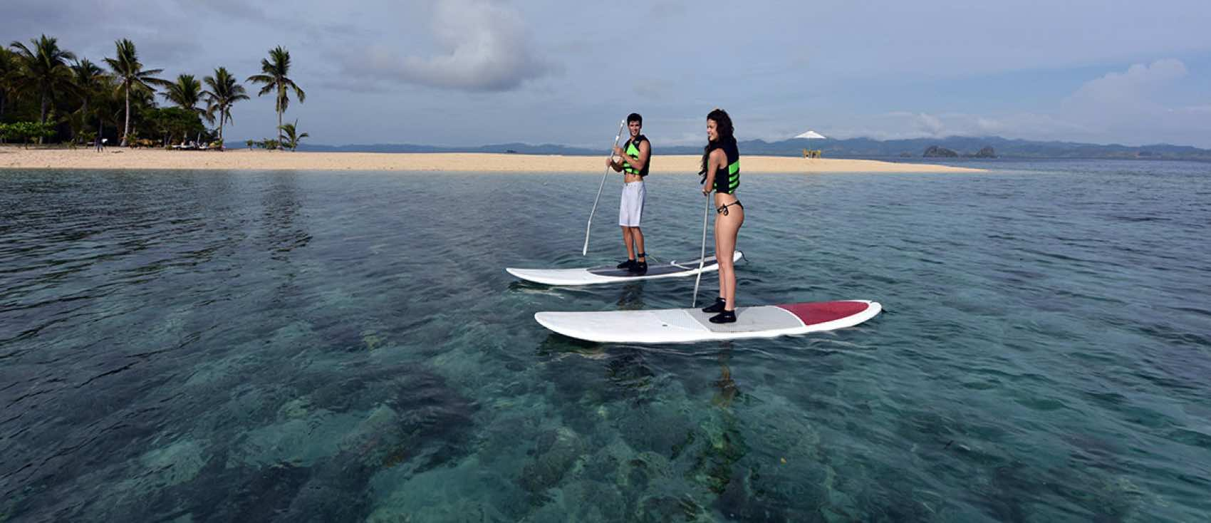 Apulit Island; Stand-Up-Paddle Boarding at Isla Blanca