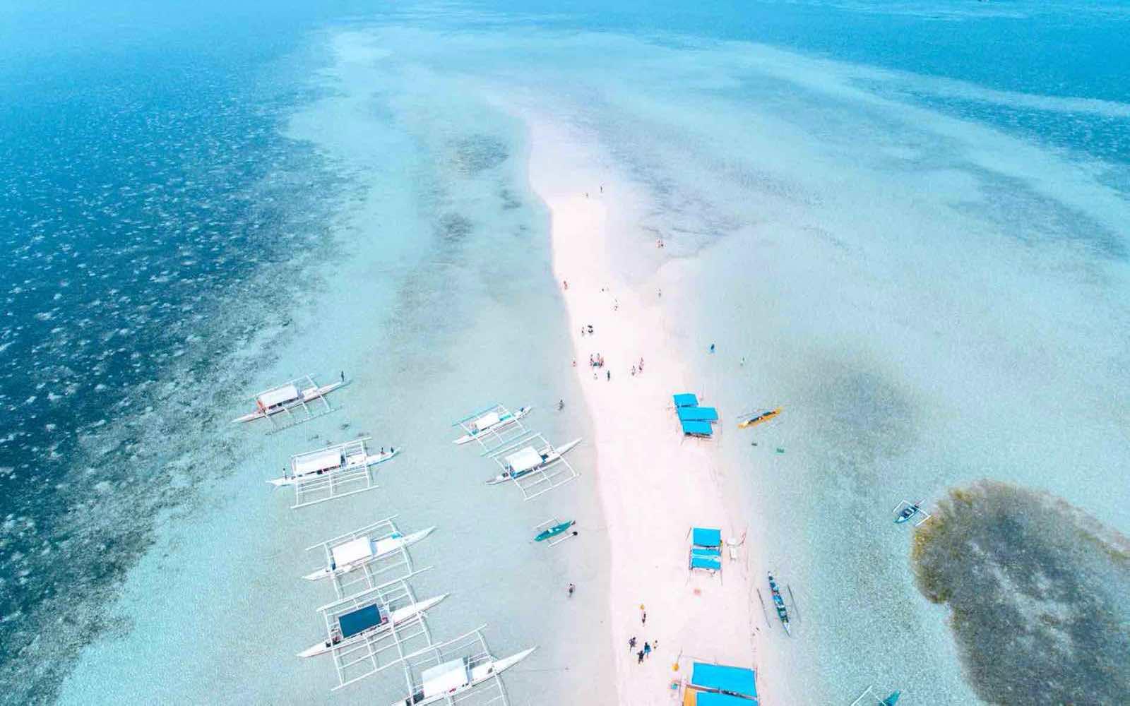 A beach in Bohol