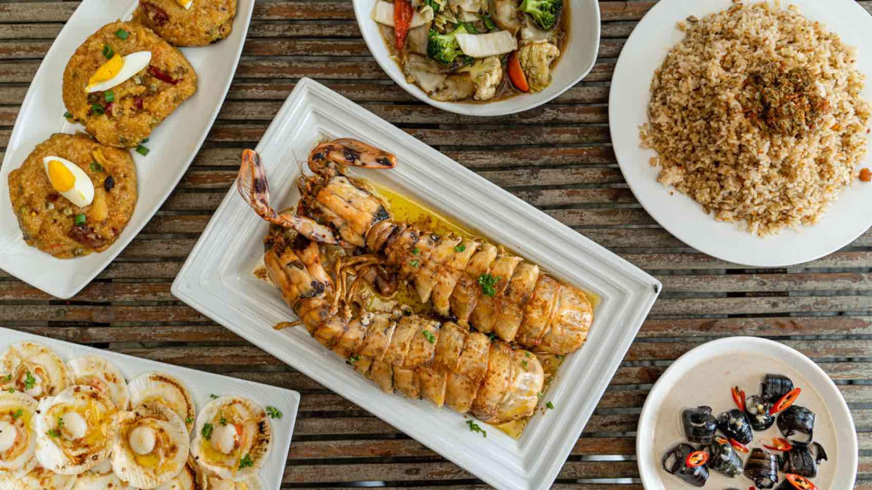 Seafood served on the island of Ilo Ilo