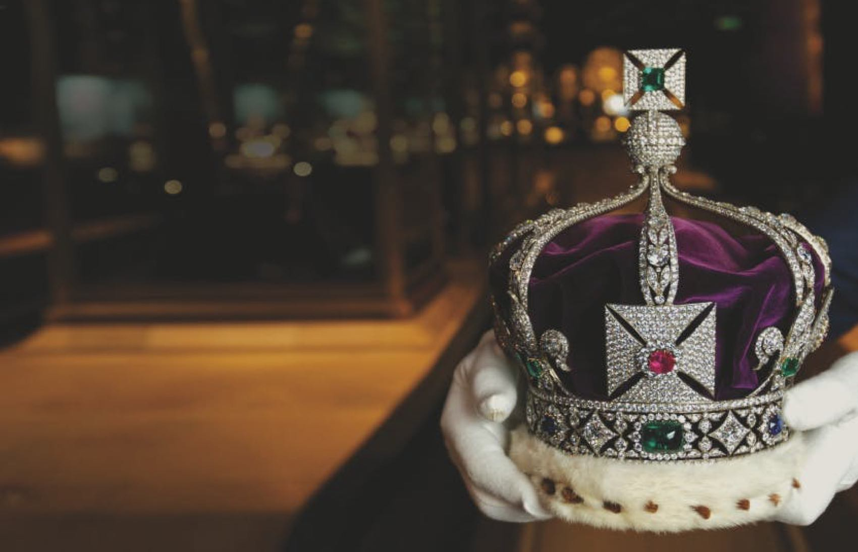 The Crown-Juwel on display at Tower of London