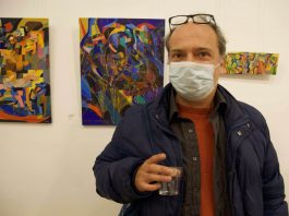 Art life matters for London-based artist Biagio Mastroianni at the opening in Bethnal Green