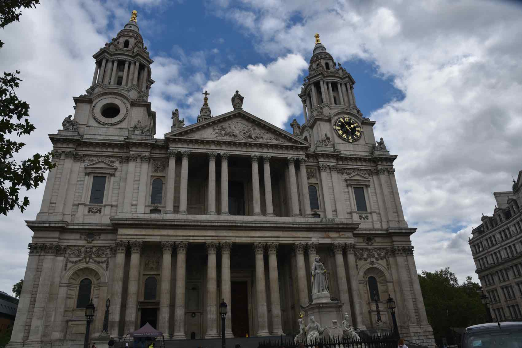 The front of St Pauls Cathedral