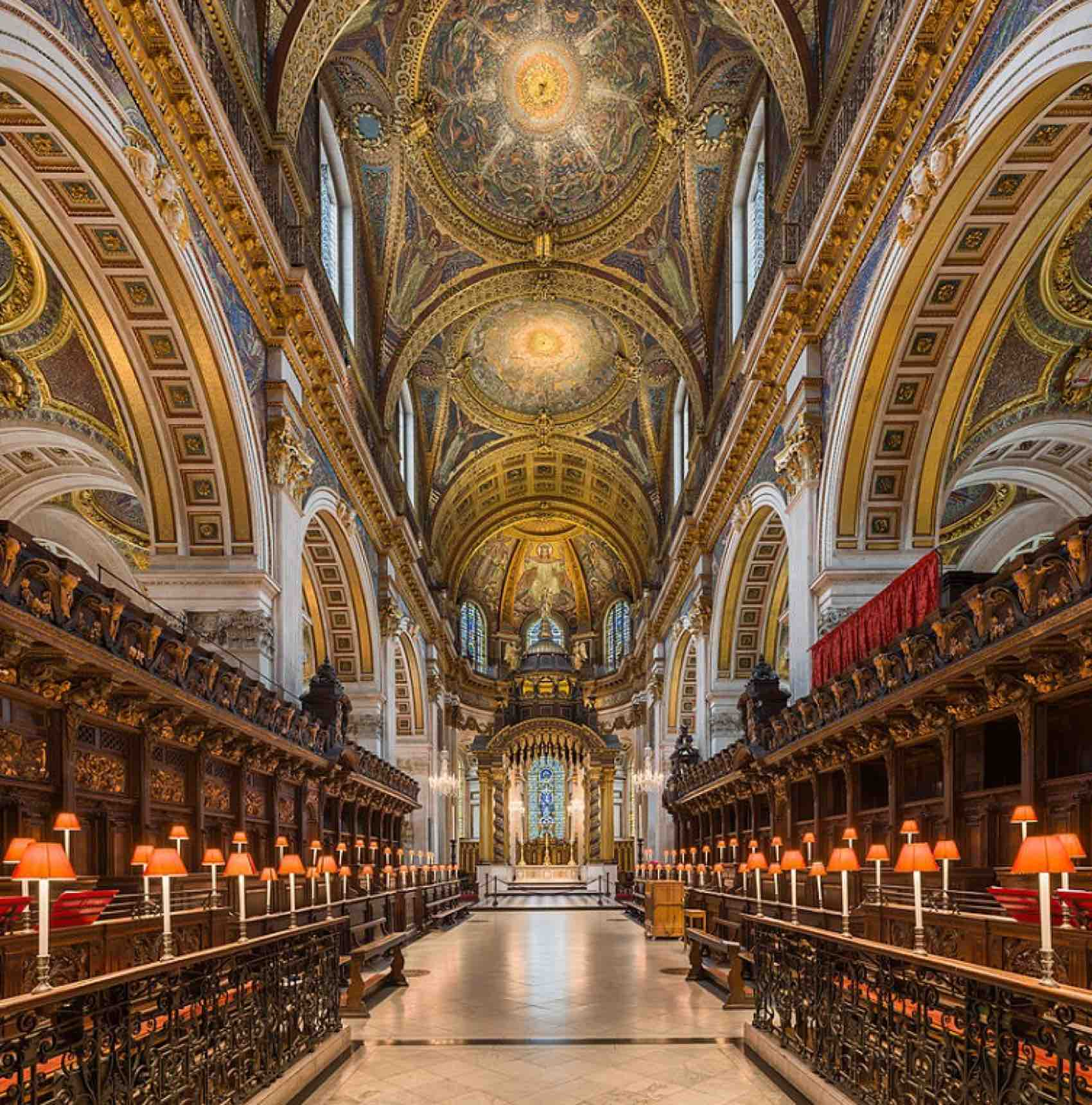 Open for visitors: The choir and altar at St Pauls Cathedral