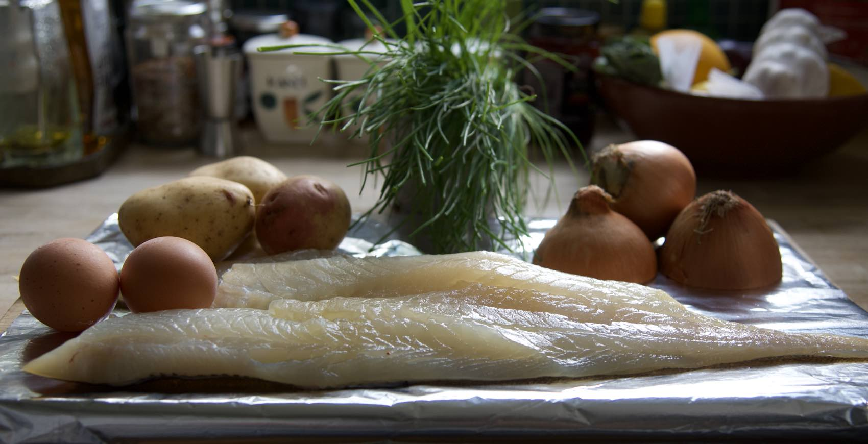 Three for Cullen Skink: Potatoes, onions and smoked haddock