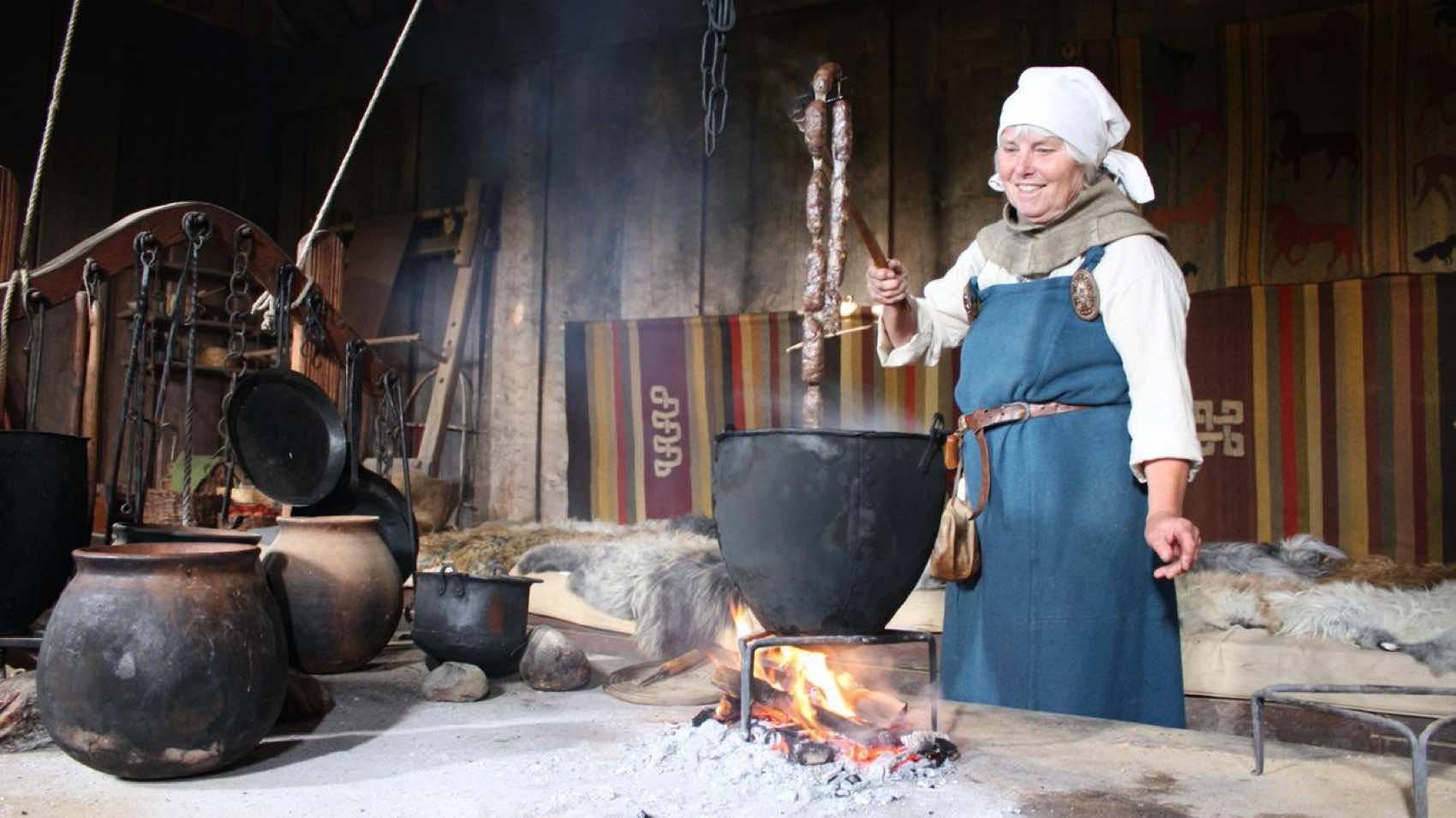 Old tradition: Sausage made at Ribe Viking Center