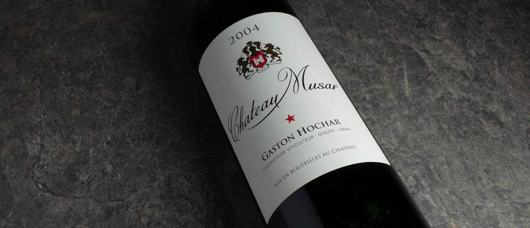 A red of Chateau Musar 2004 produced in Lebanon – normally sold on auctions