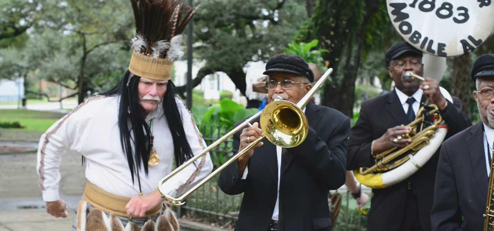 Happy music is part of America´s original Mardi Gras