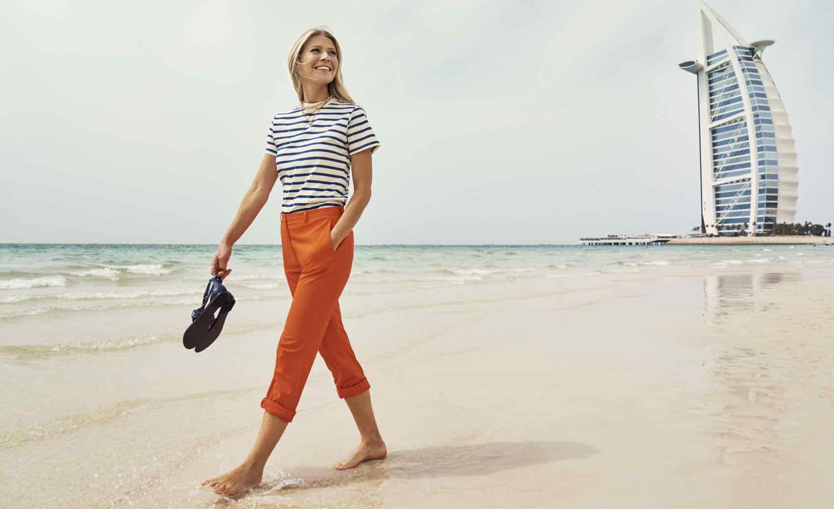 Walk on the Jumeirah Beach in Dubai, perfect for winter sun