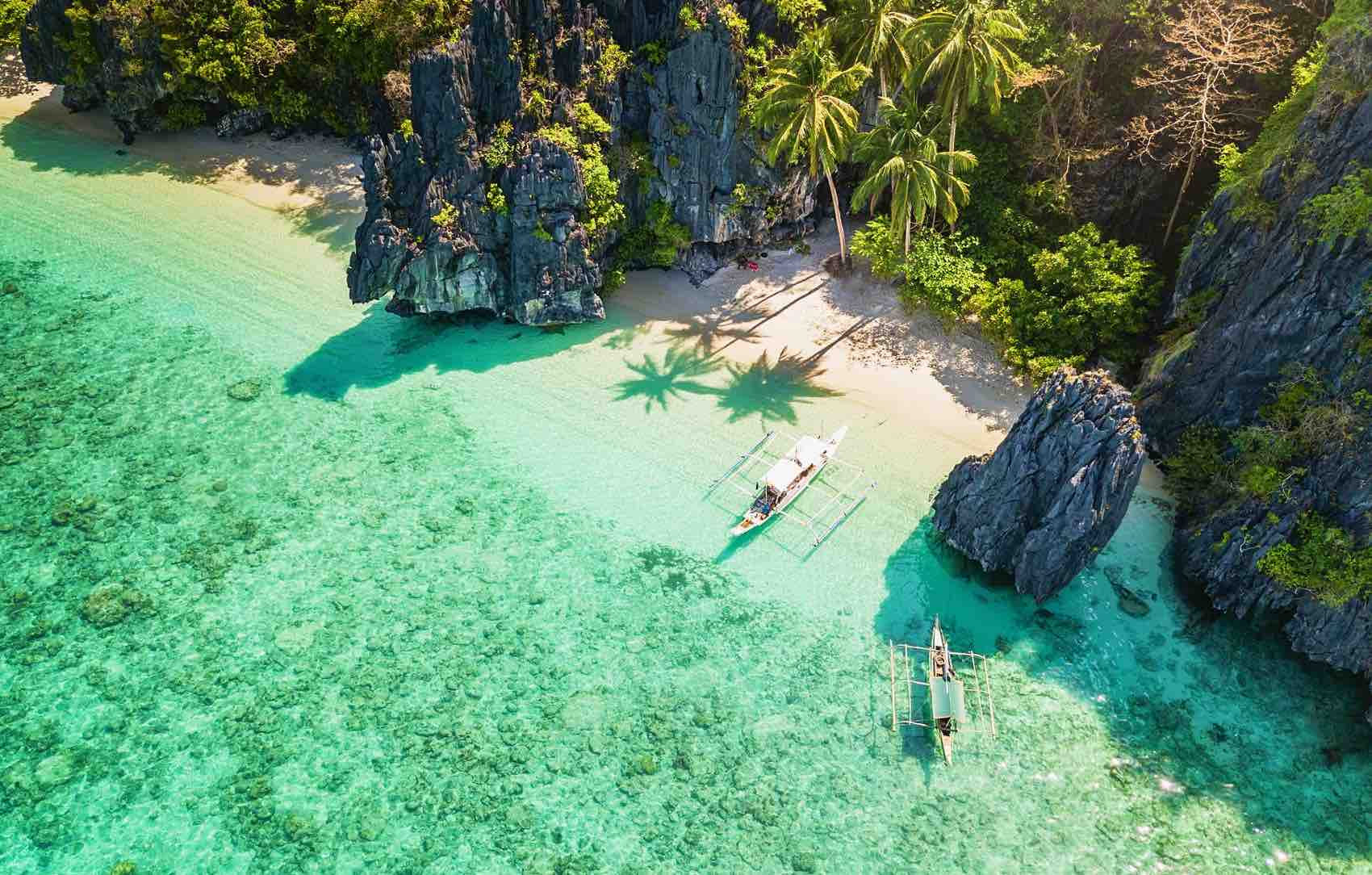 Beach on Entalula Island, one of many islands in the Philippines