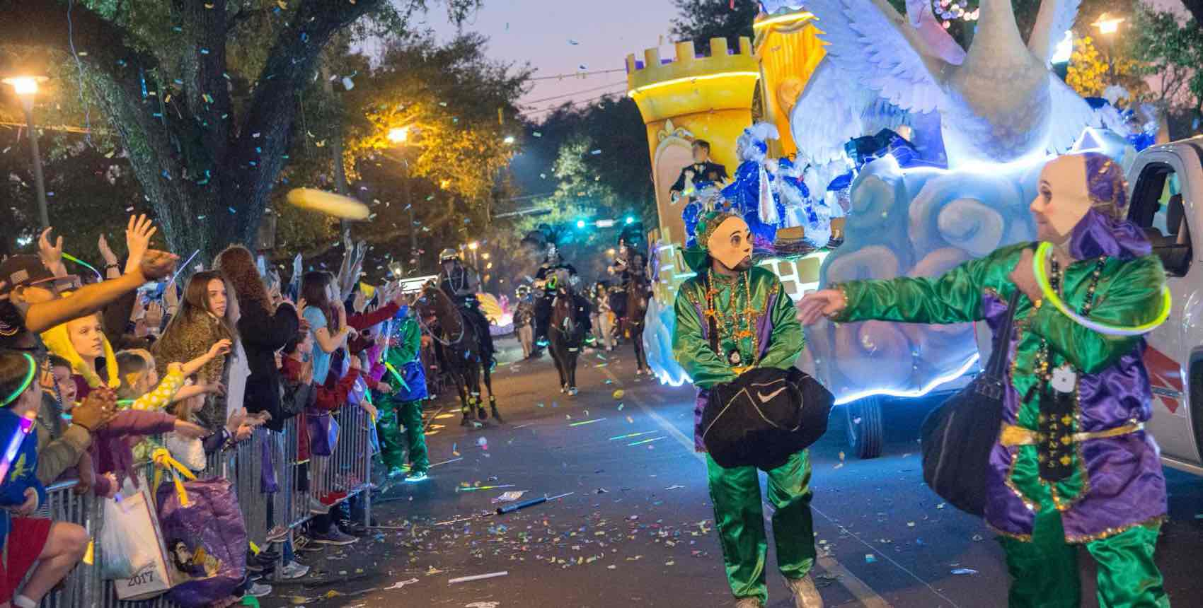 Carnival in Mobile has the hard partying like New Orleans, but is more family friendly