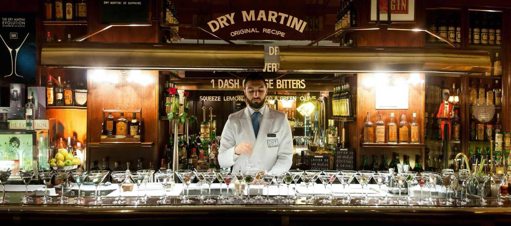 Try this Dry Martini bar in Barcelona