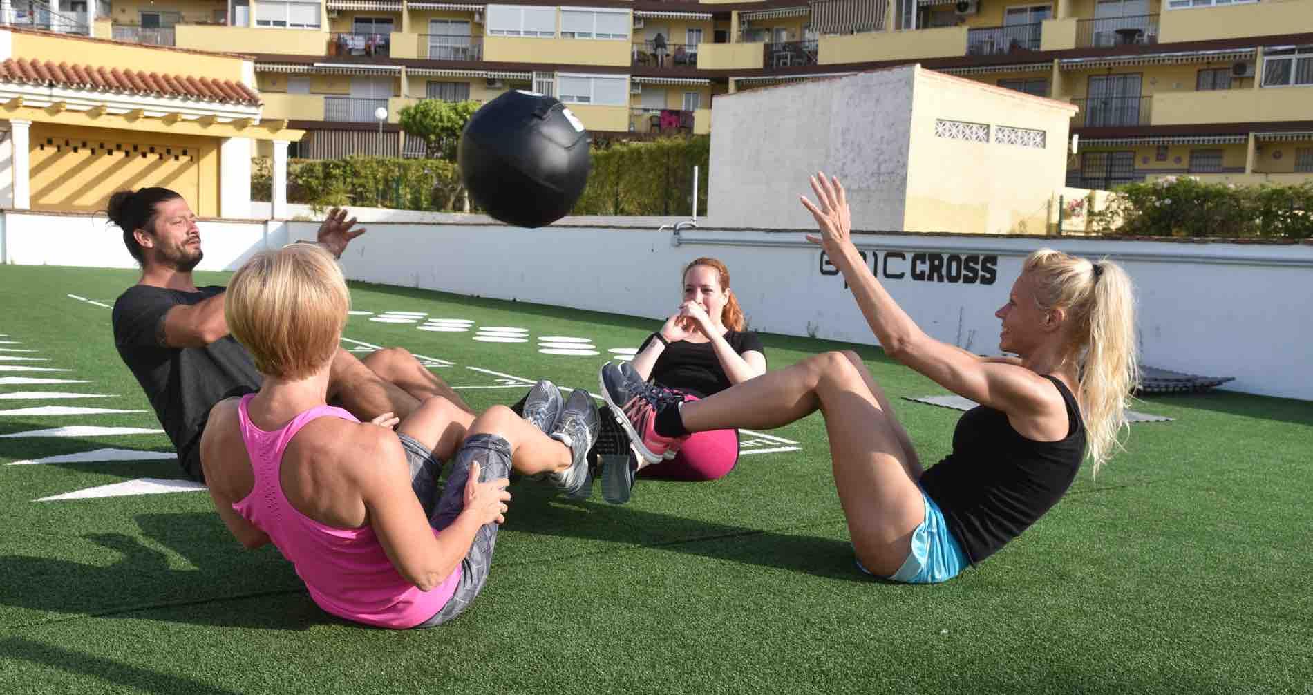 Epic Cross: Outdoor training at Epic Gym in Benalmadena