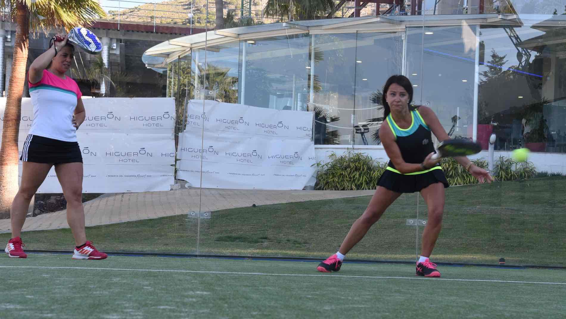 Action: Kathrine Gundersen training Padel tennis atClub Municipal de Raqueta and Reserva del Higuerón