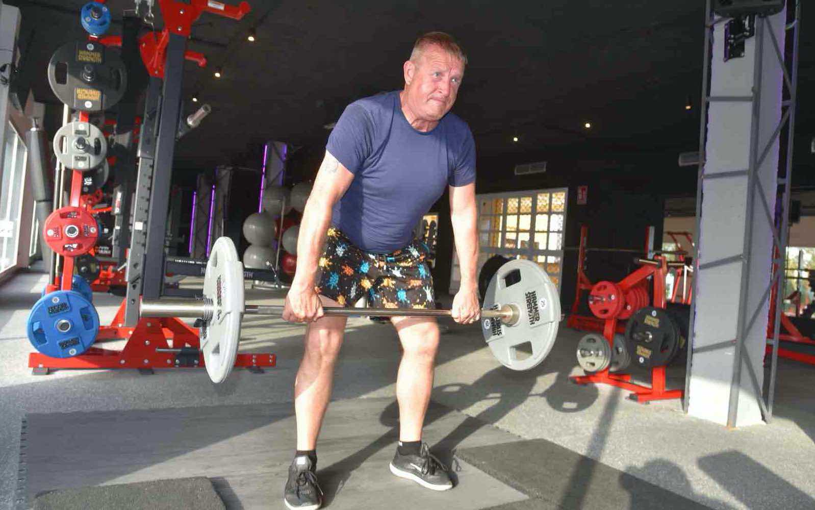 Mark Ward lifting at Epic Gym in Banalmadena, Costa del Sol