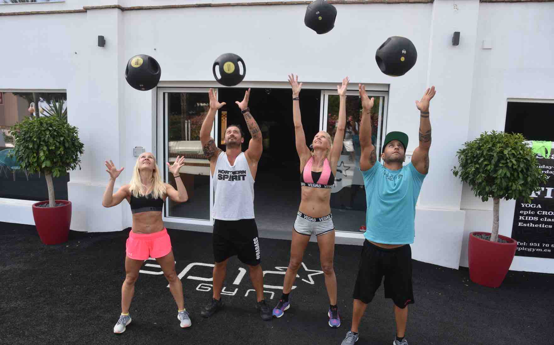 Training group at Epic Gym in Benalmadena, Costa del Sol