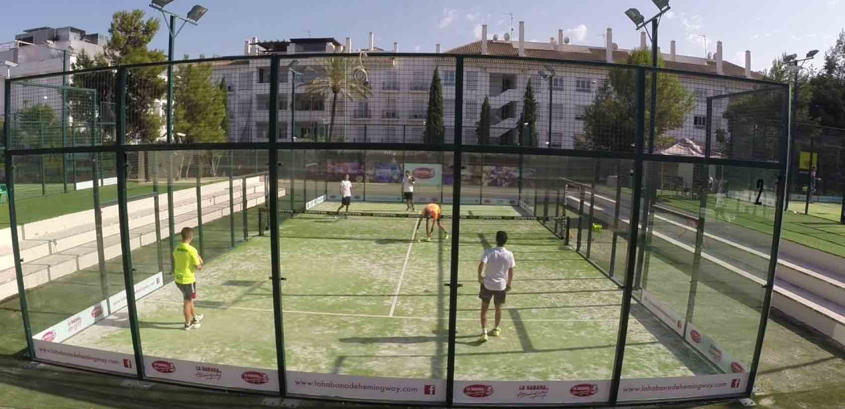Padel tennis cour at Real Club in Marbella