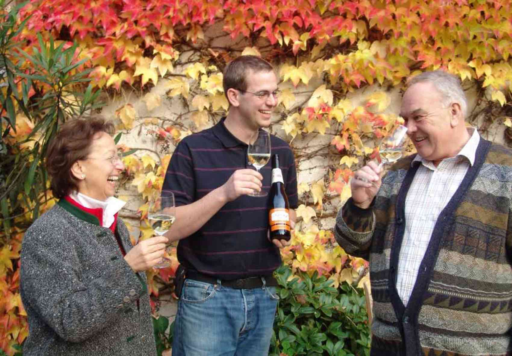 The Family Saahs testing their wine made at Nikolaihof in Wachau