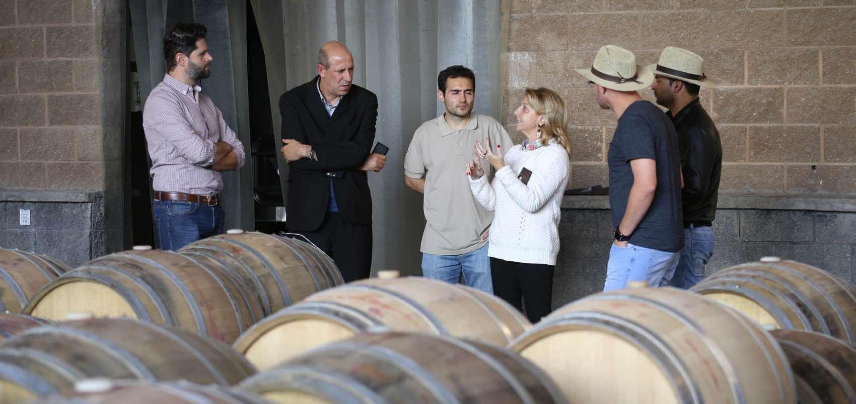 Susana Balbo meet guests at her vinery