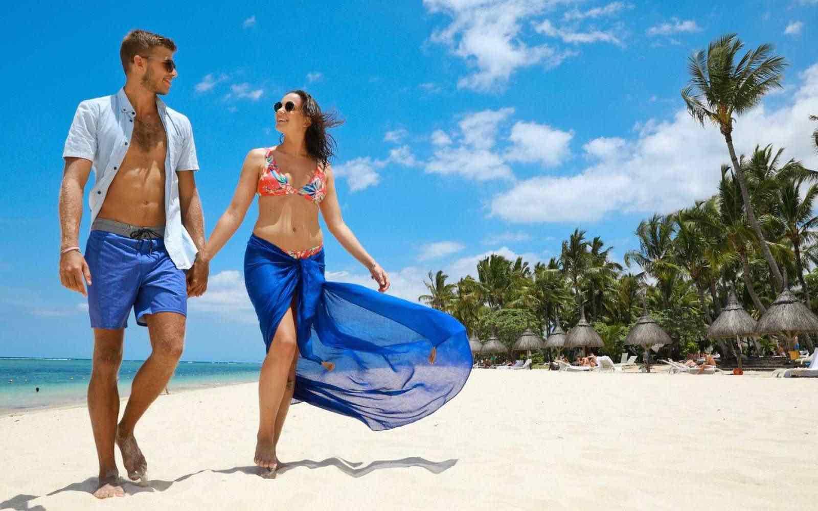 Beach lifestyle on the Mauritius