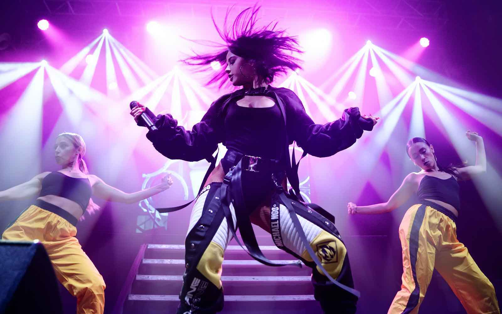 Becky G, latino pop and reggaeton band, perform in concert at Razzmatazz stage in Barcelona, Spain.