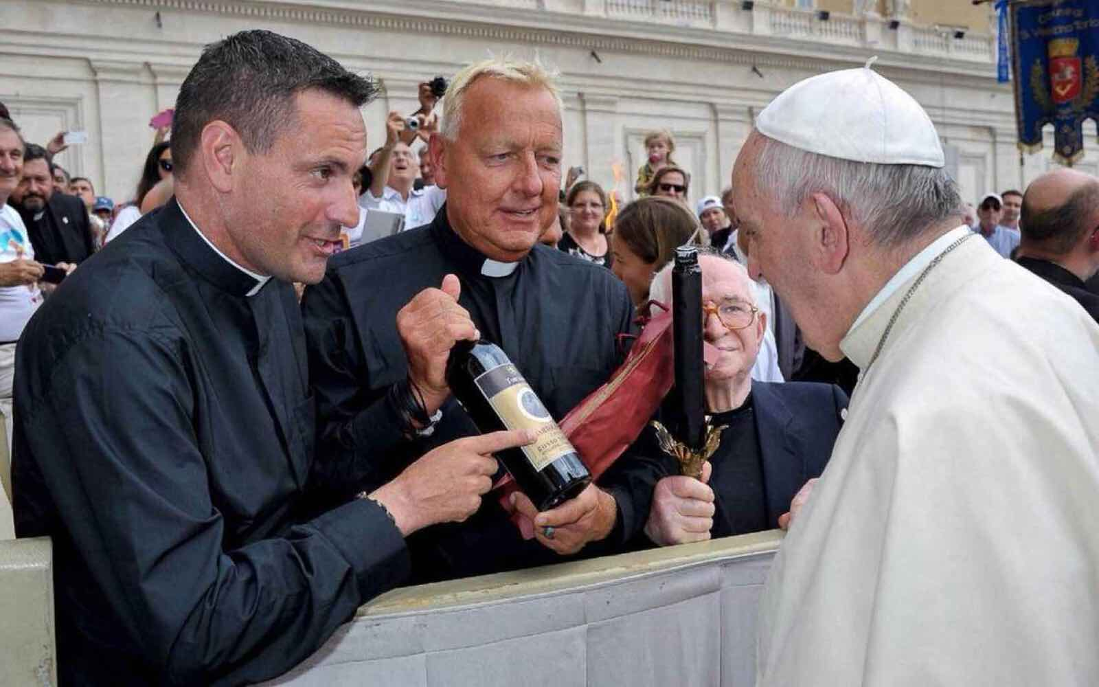 They all know Pope Francis love Italian wine