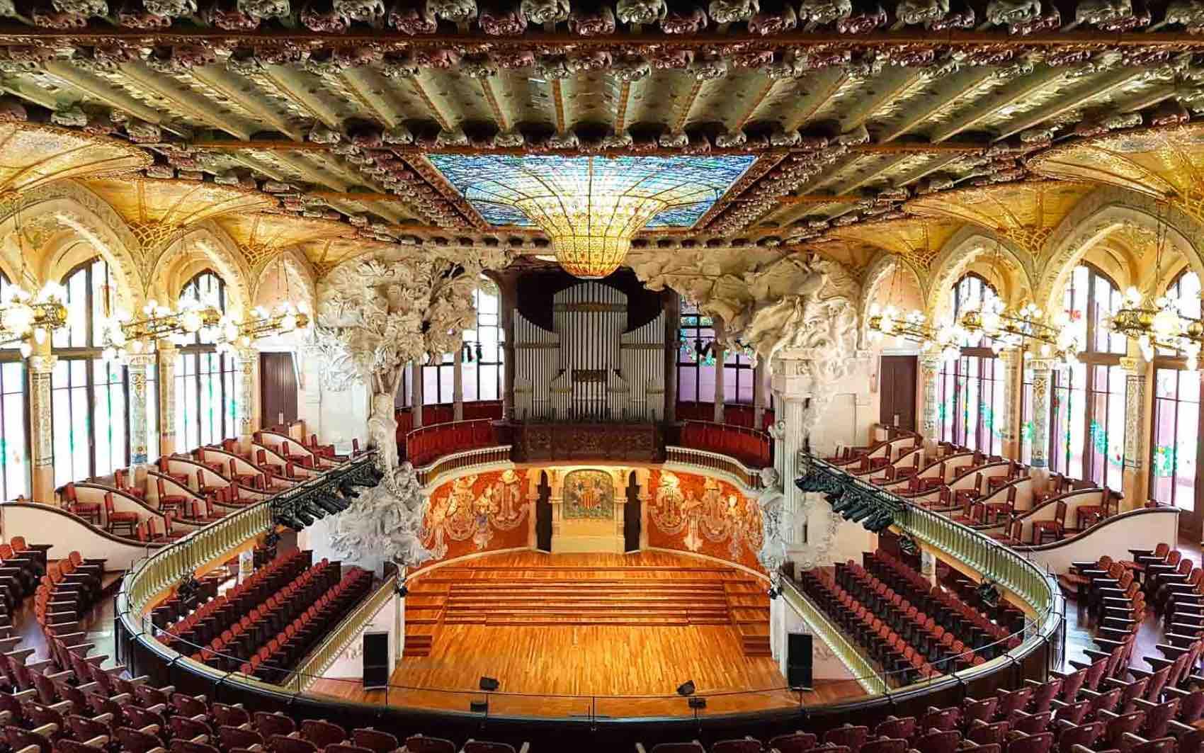 Palau Music Hall in Barcelona