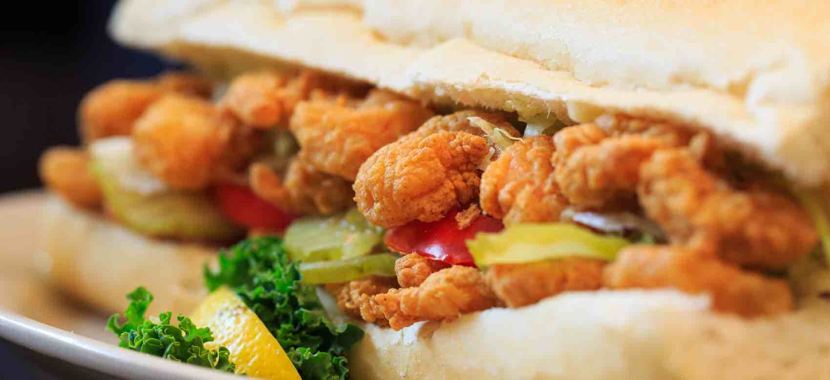 New Orleans Shrimp PoBoy on French Bread