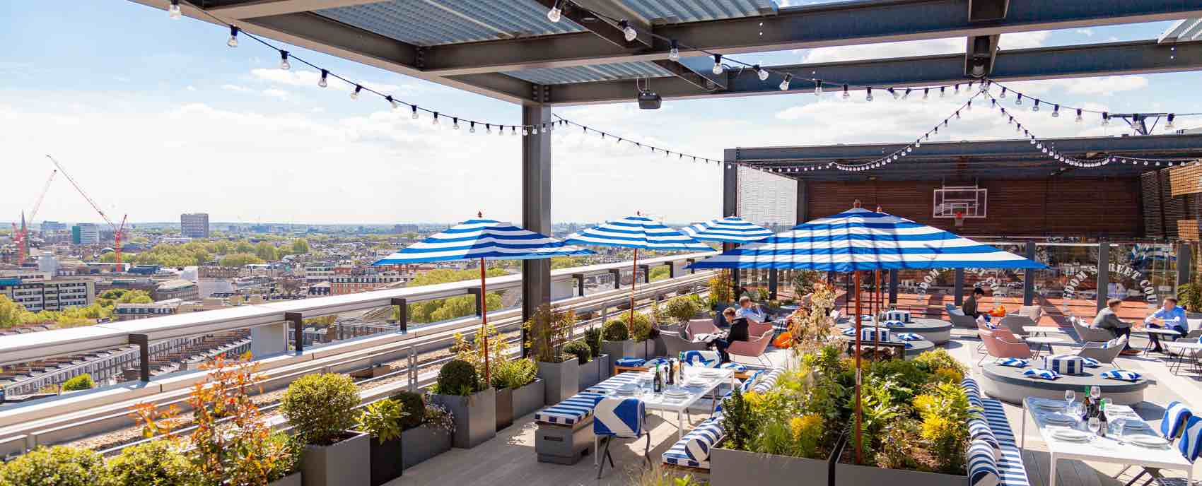 Catch some rays and views at Skylark Roof Garden, where a delightful cocktail list only adds to the attraction.