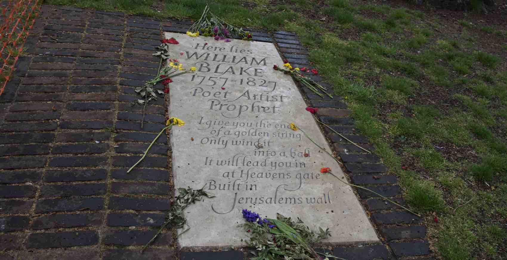 Popular Cemetery in London: William Blake - His exact place is not known