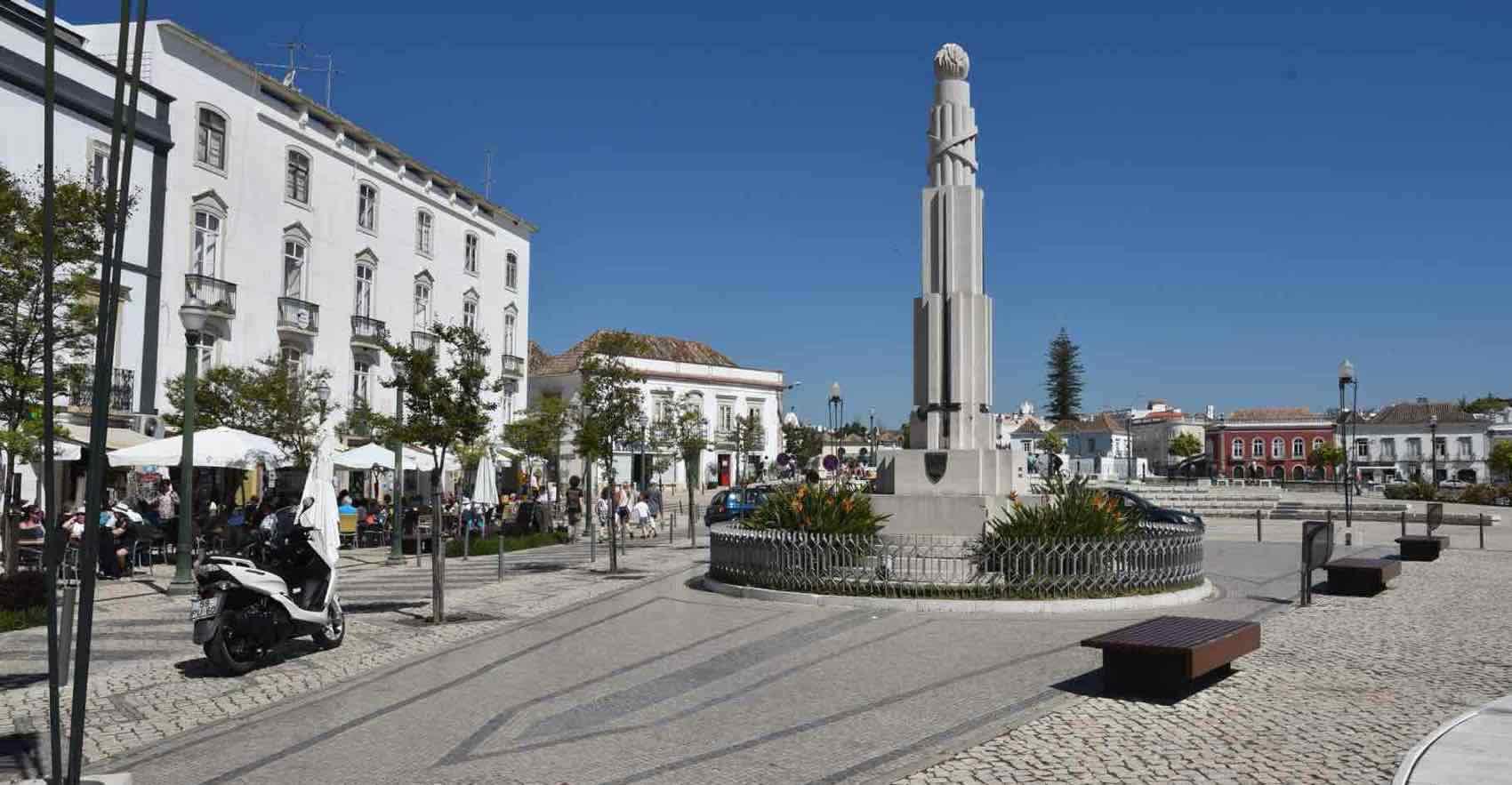 The City centre of Tavira town, Algarve, Portugal