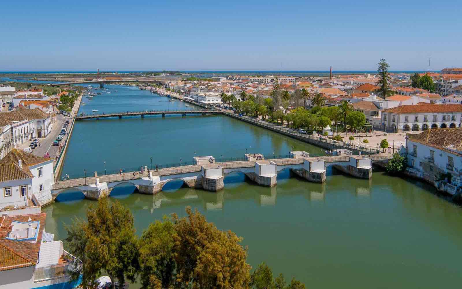 Tavira town by the sea, Algarve, Portugal
