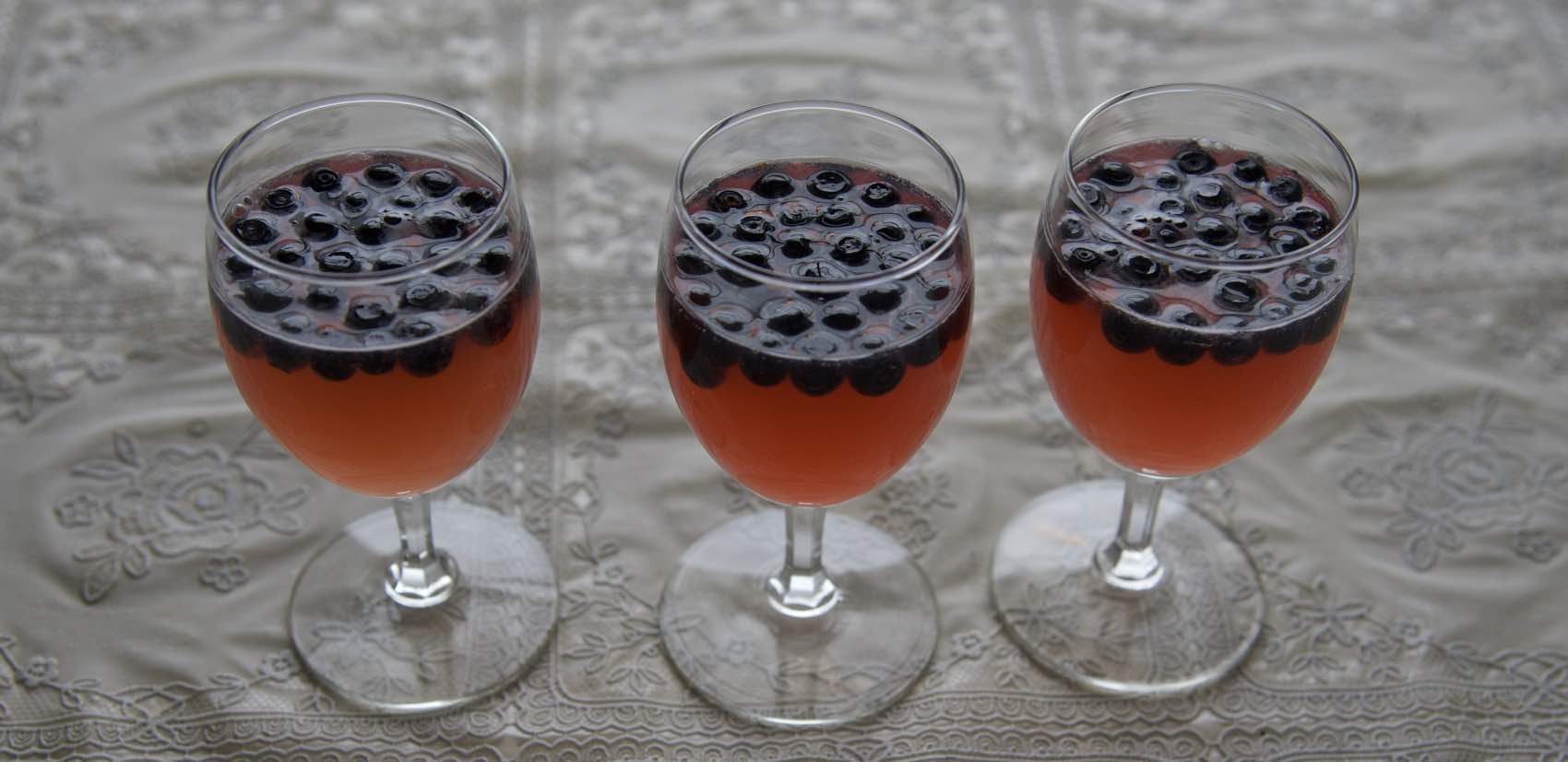 BLUEBERRY DILL: This cocktail was made of Mill Dill aquavit and fresh blueberries.