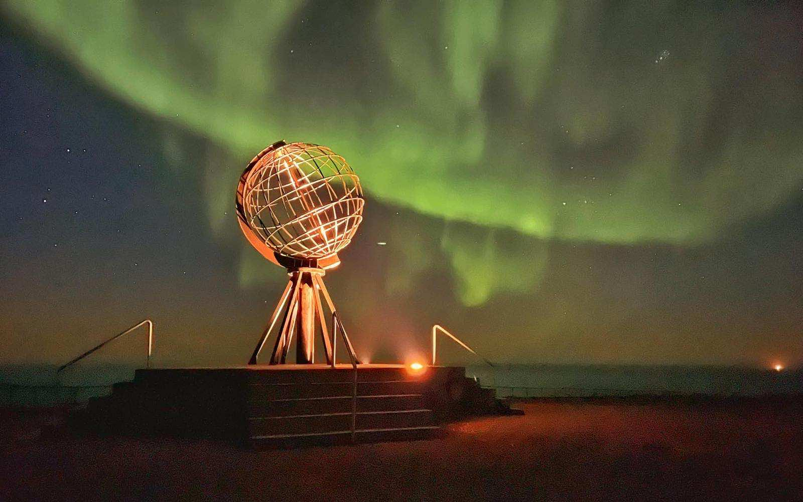 Northern Lights over North Cape in September 2021. Picture by Hilde Fagerhaug