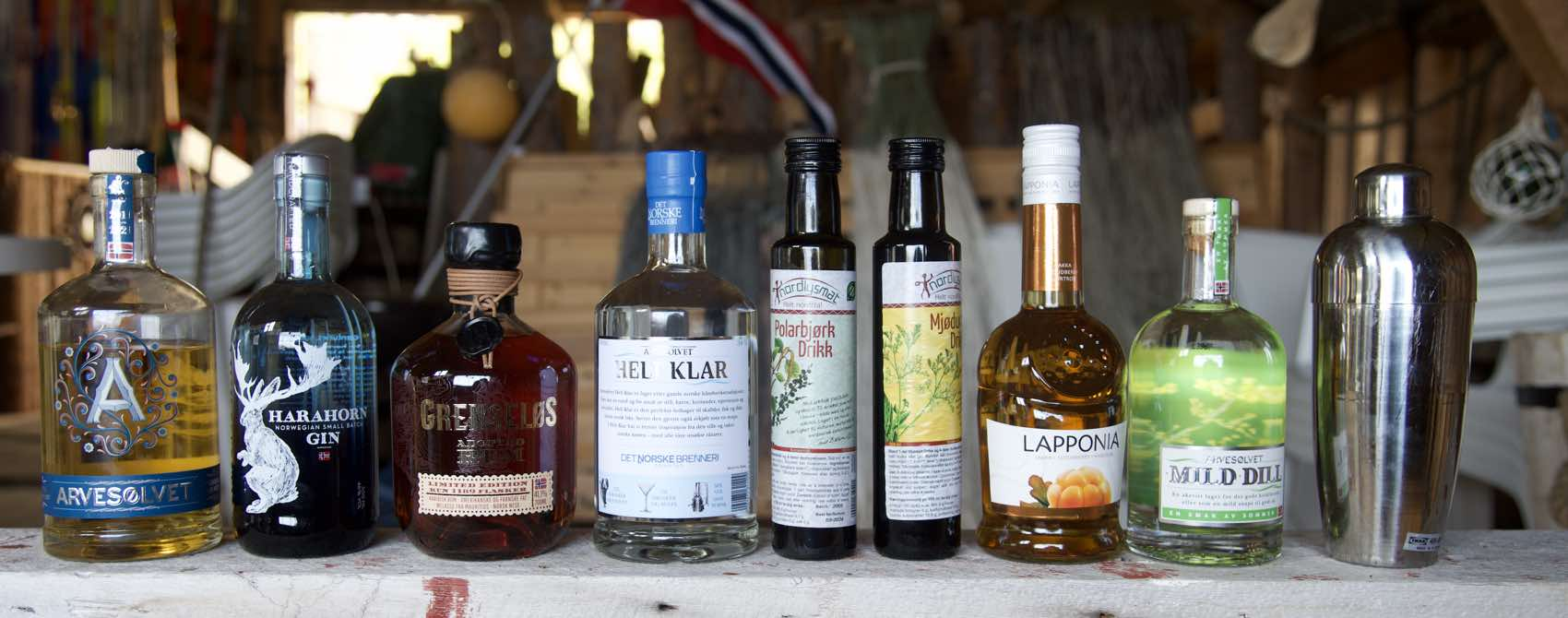 SPIRIT OF NORWAY: Gin, Rum and Aquavit all made in Norway by producer Det Norske Brenneri.