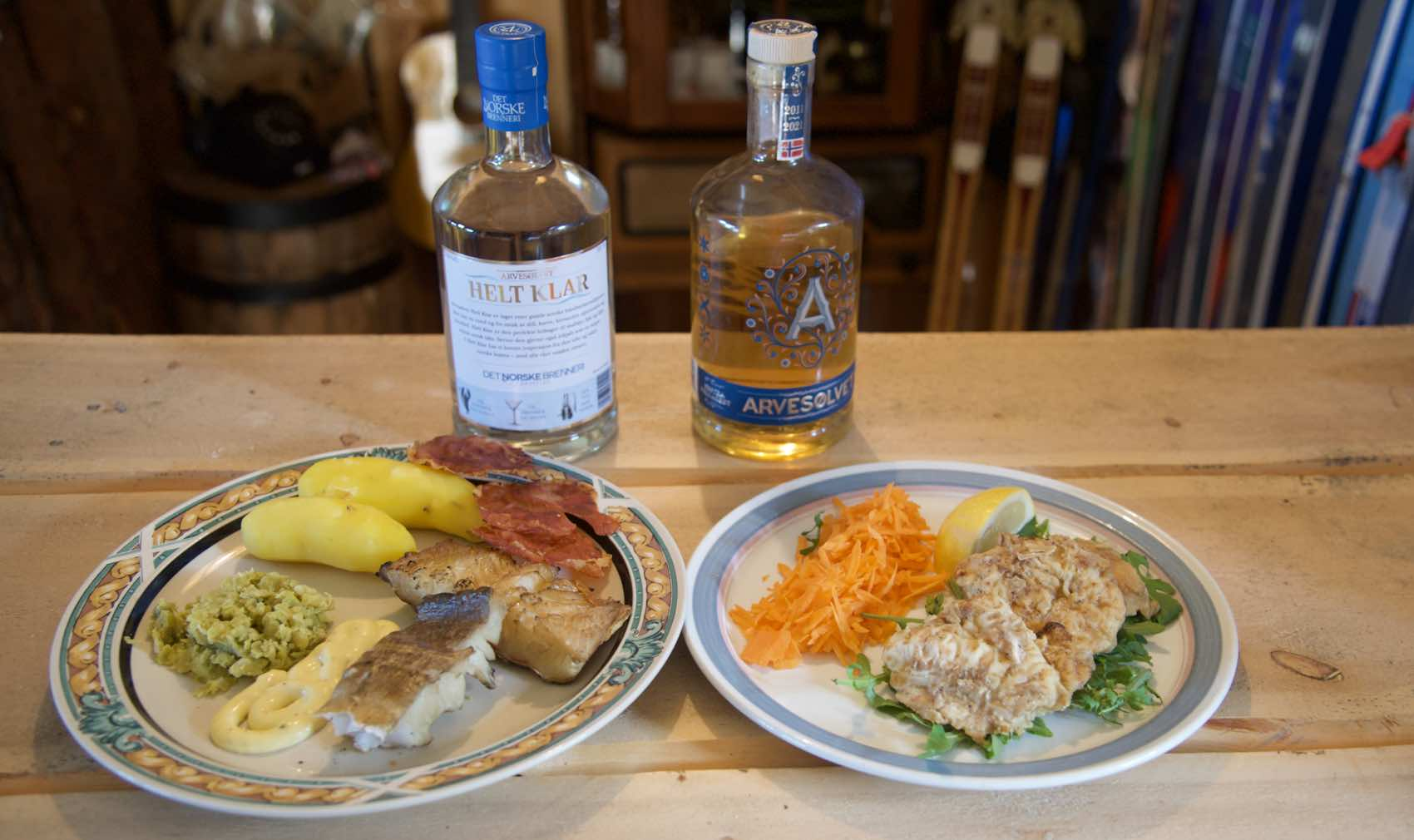 SPECIALITY: The locals up north in Norway love Boknacod, which is half-dried cod. Served with beer and Arvesølvet aquavit as the schnapps.